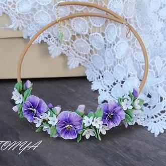 Колье с цветами, украшение для девушки, для нее