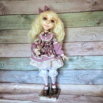 Интерьерная текстильная шарнирная кукла