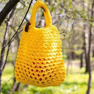 сумка авоська вязаная крючком