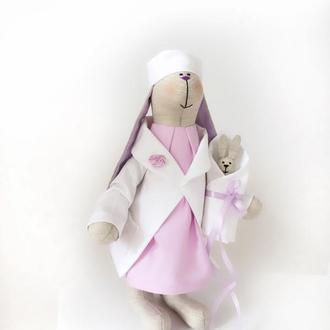 Врач доктор тильда заяц акушер гинеколог медсестра подарок врачу кукла медик