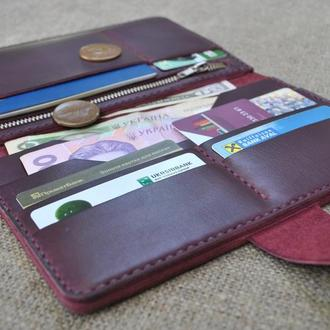 Многофункциональный кожаный кошелек K94-800