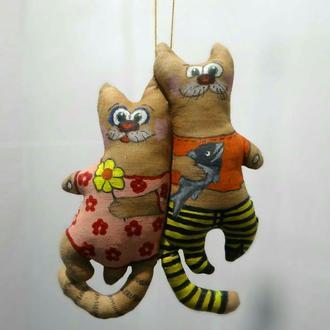 Кофейные игрушки, коты