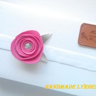 Повязка с  розой для малышки