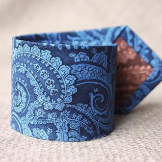 Мужской шитый галстук ручной работы