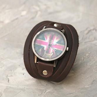 Кожаный ремешок для часов, код 5608