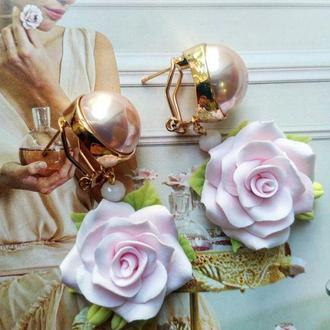 Сережки з Трояндами Сережки з квітами