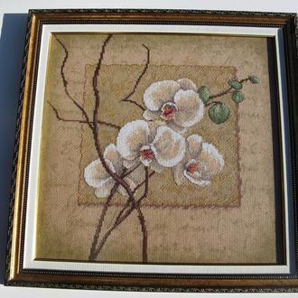 Орхидея вышивка крестом картина