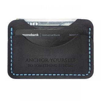 Кардхолдер C-One - Тонкий мини-кошелёк на каждый день. Итальянская кожа (Картхолдер / Визитница).