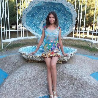 """Платье-туника """"Мальдивы"""", ирландское кружево"""