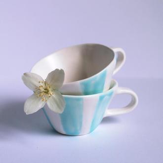 Керамические чашки для кофе, набор из двух чашек на подарок