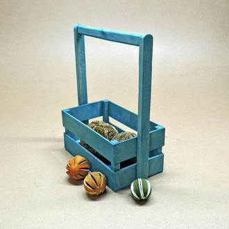 "Подарочная корзинка ""Тилтон 15х26"" лазурь"
