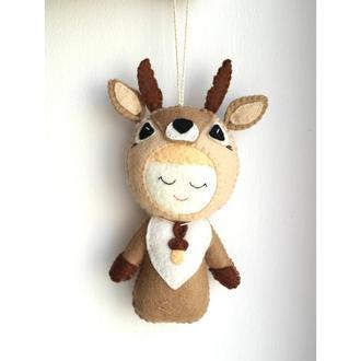 игрушка брелок на сумку подвеска малыш олень