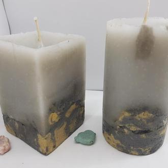 Набор свечей из бетона, стиль Loft