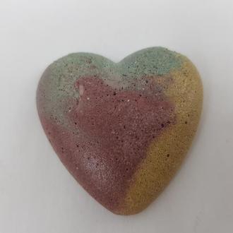 Сердце из бетона для декупажа, декора, росписи, стиль Loft - мультицвет 4