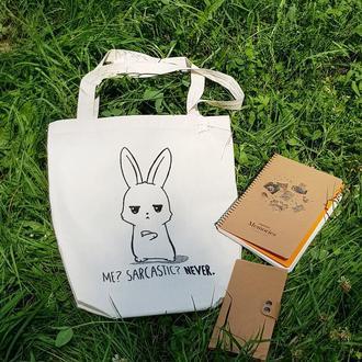 "Эко сумка ""Саркастичный кролик"""