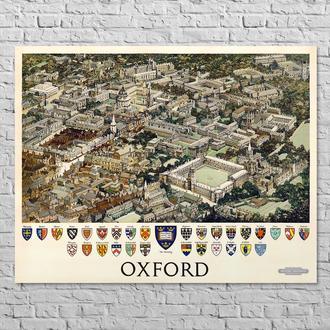 Мапа British Railways. Oxford