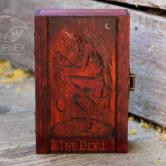 """Скринька для карт Таро """"The Devil"""""""