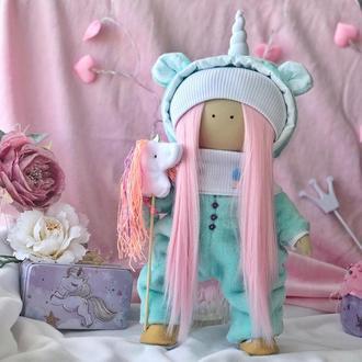 Кукла Единорожка в комбинезоне