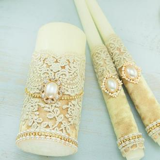 Венчальные свечи / Свечи для свадьбы / Свечи золотые / Золоті свічі для весілля / Семейный очаг