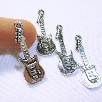 Подвеска Гитара металлическая фурнитура стиль античное серебро