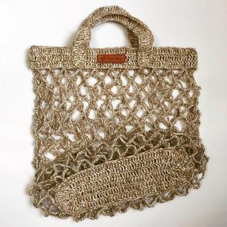 Эко торба, эко сумка, сумка сетка женская сумка, летняя сумка, вязаная сумка, пляжная сумка, авоська