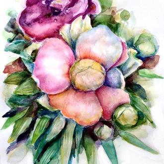 Пионы картина Картины с пионами Цветы пионы Букет пионов картина Живопись пионы Красивые пионы