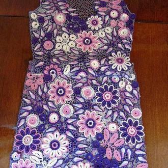 """Платье цветочное """"Виолет"""" ирландским кружевом."""