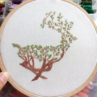 Deer Embroidery Hoop | Вышивка