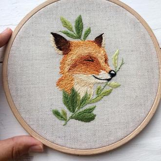 Fox Embroidery Hoop | Вышивка Лиса