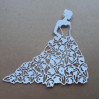 картонная вырубка Невеста , свадьба