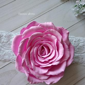 Роза из фоамирана на повязке