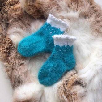Пухнасті дитячі носочки з ангори