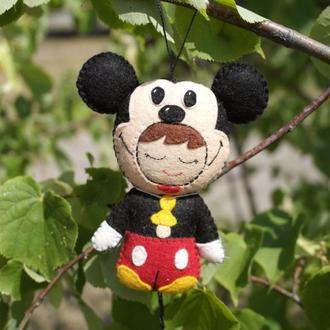 мягкая игрушка брелок - малыш Микки маус