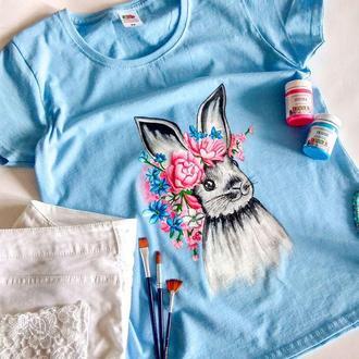 """Женская футболка """"Flower bunny"""""""