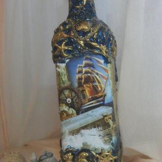 бутылки на подарок ручной работы