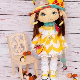 Интерьерная кукла ручной работы.