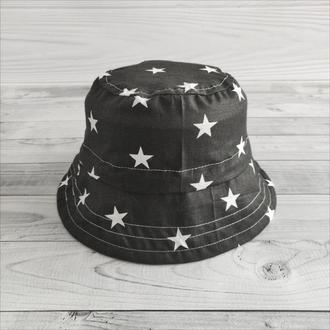 Панамка «Белые звезды на черном» 56 р.