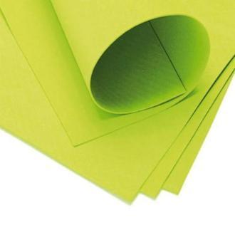 Фоаміран 60х70см, 0.6-0.8мм - 1.2мм жовто-зелений