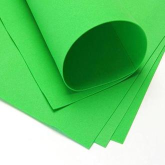 Фоаміран 60х70см, 0.6-0.8 мм - 1.2 мм светло-зеленый