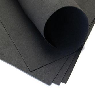 Фоаміран 60х70см, 0.6-0.8мм - 1.2мм чорний