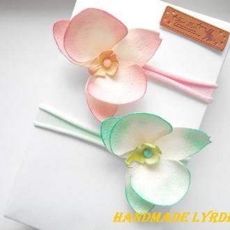 Набор повязок для девочек с орхидеями