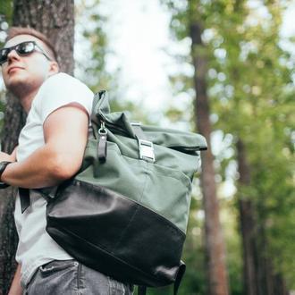 Мужской кожаный рюкзак антидождь