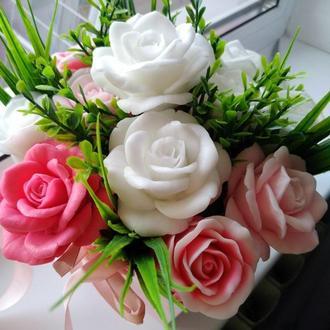 Букет из мыла розы, мыльный букет розы, букет из роз