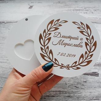 Белая шкатулка для свадебных колец на магнитах Коробочка для обручальных колец