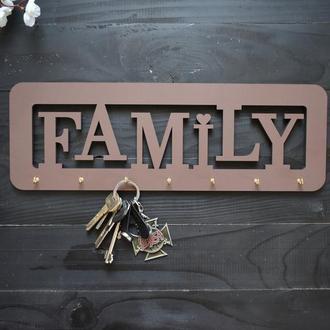 "Настенная ключница ""Family"", из дерева"