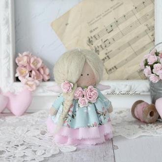 Нежна текстильная кукла- малышка 10 см.
