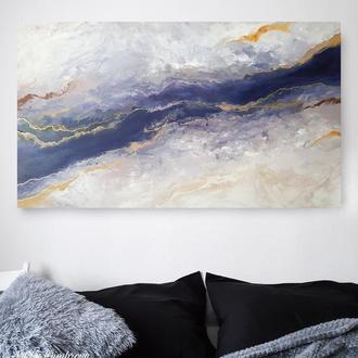 Картина в интерьер флюид арт абстракция