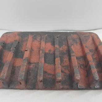 Мыльница из бетона  - красная с черным