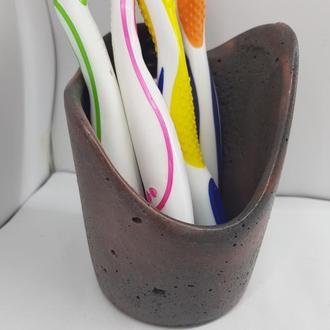 Стакан для зубных щеток из бетона