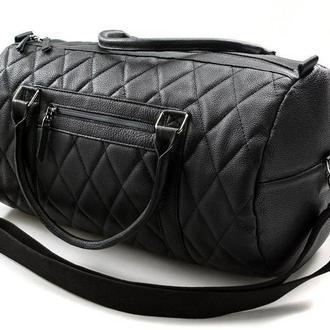 Дорожная сумка -бочонок из эко-кожи Auto-Sport Bag-tb009